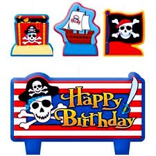 PIRATE PARTY Treasure MINI CANDLE SET (4pc) ~ Birthday Supplies Cake Decorations