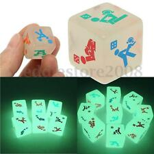 1PC Sex Funny Adult Noctilucent Sexy Glow Dice Love Gambling Romance Erotic Toy