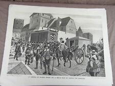 affiche ECOLE SCOLAIRE 1955/60 signée ALFRED CARLIER HISTOIRE CIVILISATION 9/22