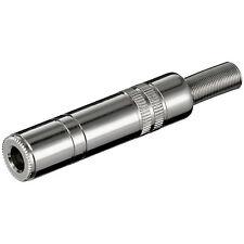 Goobay 2 Stk. Klinkenkupplung 6,35 mm mono Metallausführung