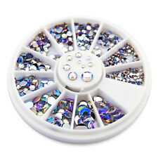 550pcs 1.5 to 5 mm Round Nail Art Decorations Rhinestone Accessories Decoration