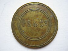 PS & Co token 3d brass