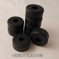 """8 Hard Black 1.5"""" x 0.63"""" Rubber Feet for Guitar Amps, Combos, Speaker Cabinets"""
