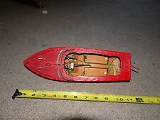 ( 2 ) Vintage Japan Battery Operated Wood Toy Boat ( antique toy tin marx lot