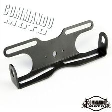 Black Motorcross Tail Number Plate Holder Fender Eliminator Tail Tidy Universal