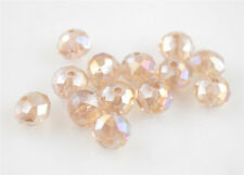 3x4mm Silver Champagne AB Faceted Loose Rondelle 5040# Crystal Glass Bead 200pcs