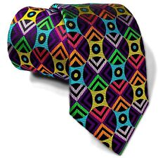 LAWRENCE IVEY, STUNNING HANDMADE MULTICOLOUR 'MESHED CIRCLES' TIE FREEPOST