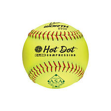 "Worth ASA HotDot 52/300 12"" Softball - 1 DOZEN"