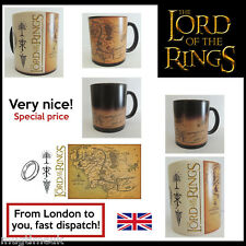 The Lord of the Rings - Map Color Changing Magic black heat sensitive Coffee Mug