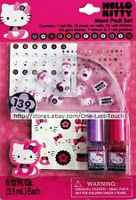 HELLO KITTY 139pc MANI PEDI SET Nail Polish+File+Press-Ons+Stickers+Stones+MORE