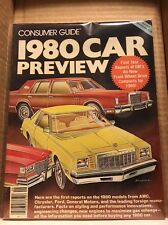"Consumer Guide Magazine SEPTEMBER 1979 ""1980 CAR PREVIEW"""