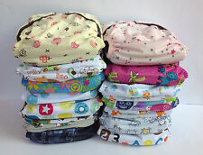 6 Baby Cloth Nappies Charcoal Bamboo Nappy New Reusable One Size Inserts Girl