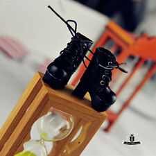 1/12 BJD Shoes LATI Dollfie DREAM DIM DOD AOD Shoes Tiny Black shoes 2.9cm #009