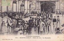 MONTE-CARLO 722 salle de jeu la roulette éd giletta timbrée MONACO 1903