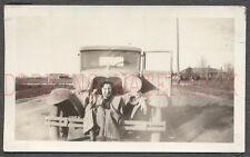 Vintage Car Photo Pretty Girl on Bumper Model A Ford Automobile 671305