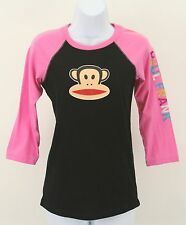 Paul Frank Sz S Black Pink 3/4 Sleeve Top (B288)