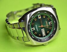New Seiko SNKM97 Automatic Stainless Steel Green Dial Men's Watch
