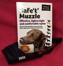 Dog Muzzle Size 1XL Black Padded Nylon 13 cm Whippet, Dachshund Etc
