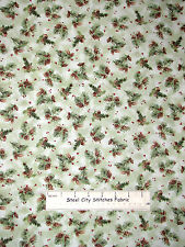 Christmas O Snowy Night Pine Cone Green  #19911 Fabric Cotton Yard Red Rooster