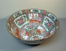 "LARGE 19th C. CHINESE EXPORT ROSE MEDALLION 14"" PORCELAIN CENTERPIECE BOWL"