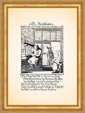 Der Buchbinder Bücher Bucheinband lesen Kupferstich Christoph Weigel Berufe 028