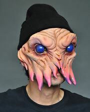 Funny Alien Squid Man Adult Halloween Latex Mask Eat Drink Party While Wearing