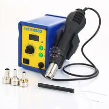 110V Gaoyue 2in1 858D SMD Rework Soldering Station Hot Air Gun Desoldering Tool