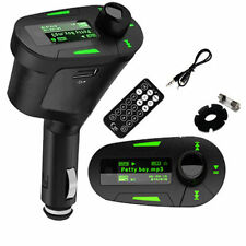 GREEN CAR WIRELESS FM RADIO TRANSMITTER MP3 REMOTE FOR LIVE WALKMAN (S)