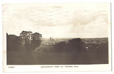 Canterbury from ST THOMAS HILL KENT OLD RP PHOTO POSTCARD 1926
