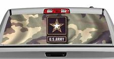 Truck Rear Window Decal Graphic [Military / US Army] 20x65in DC03709