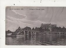 Dark Harbor Me College Of George Lewis USA Vintage Postcard 934a