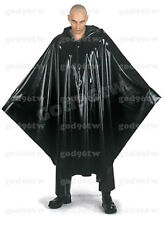 100% Latex Rubber Poncho Cape Robe With Hood Catsuit Bodysuit Cloak Gothic Hot!