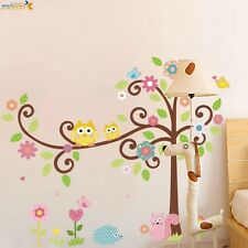 Owl & Tree Animals Wall Sticker Nursery Kids Room Decal