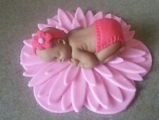 Baby shower cake topper fondant baby fully customizable