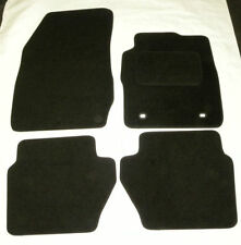 Tailored Black  Car Mats for FORD FIESTA MK7 st  2009 onwards 2 oval clip B1084