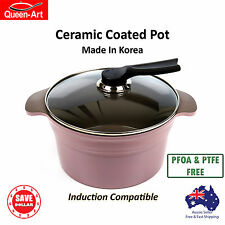 24cm Cooking Casserole Stew Stock Pot Non Stick Ceramic Coated Induction Korea