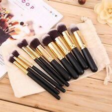 8pcs Makeup Brush Blend Shadow Angled Eyeliner Smoked Bloom Eye Brushes Set LO
