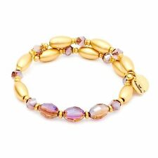 Chrysalis Gold Plated Fire Purple Wrap Bangle Bracelet - CRBW0003GPPURP
