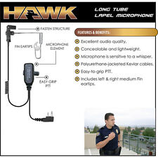 HAWK QR Police Lapel Microphone Headset for ICOM F3G F3GS F3GT F4G F4GS F4GT