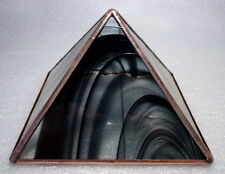 black and clear baroque Stained Glass and Copper Metaphysical Power Pyramid