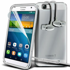 Ultra Thin Clear Gel Skin Case Cover & Handsfree for Huawei Ascend G7