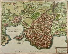 SIRACUSA ORTIGIA SICILIA GRANDE INCISIONE CLUVER 1619 SYRAKUS SYRACUSE