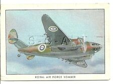 WWII 1940s- Original Cigarette Card- RAF- Airplane- Bomber- Lockheed Hudson