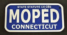 "Connecticut Aluminum Moped License Plate Tag -  METAL 3"" X 6"" CT 49cc Scooter"