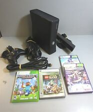 Microsoft-XBOX 360-4GB-Console Bundle-NO HARD DRIVE w/Kinect, (4) Games,&More(A)