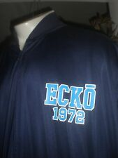 NWT ECKO UNLTD NAVY W/LIGHT BLUE TRIM L/S WARM UP JACKET SZ:5XB 5XL 5X