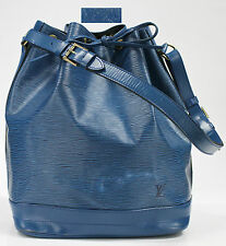 Used Authentic Louis Vuitton Epi Noe MM Blue OOE