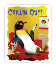 Chillin Out Penguin Mouse Mat - Wildlife