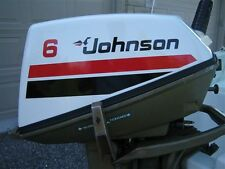 Johnson Outboard 6 or 8hp Decal Set