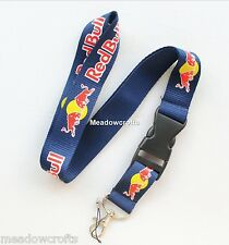 Red Bull Lanyard NEW Navy Blue - UK Seller - Car Keyring ID Holder Phone Strap